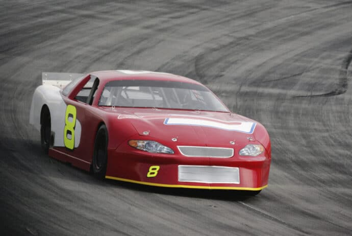 Motorsports-Red Race Car